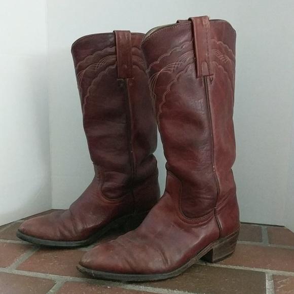 f9094dce9e862 Vintage Frye USA Oxblood Cowboy Western Boots